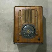 Vintage Antique Wood Knight Tombstone Tube Radio Classic American Collectible