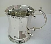 Handcrafted Coin Silver Cup Christening Mug 900 Silver By W And Vn Canada Ca1850s