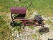 Antique Metal Pedal Tractor Bmc 1940s Senior Kids Toy Pedal Car Collectable