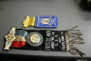 G.a.r. Civil War Veterans Encampment Medals/ribbons For Vermont And New Hampshire