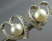 Large .75ct Diamond And Aaa South Sea Pearl 14k White Gold Clip On Earrings 27481