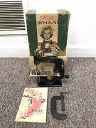 Vintage Singer Sewhandy Model 20 Childand039s Sewing Machine Box Manual Clamp Wow