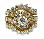 Womenand039s Cocktail Engagement Ring Enhancer 2.60ct Diamond 14k Yellow Gold 11.7g