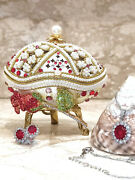 Luxury Christmas Gifts For Mom Faberge Egg Ornament Home Decor And Ruby Jewelry Hm