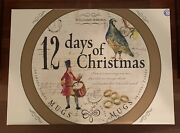 Williams-sonoma 12 Days Of Christmas Mugs Complete Set Of 6 In Opened Box