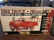 """Pedal Car """"gearbox"""" Fire Truck No.1, Limited Edition. New In Box."""