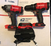 Craftsman 20v Drill , Impact Driver 1 4ah Battery And Charger
