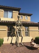 12 Foot Ft Tall Giant Skeleton W/ Animated Lcd Eyes Halloween Prop In Hand