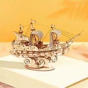 Puzzle Ship Wooden Model Boat Toy Gift Diy Game Assembly Kits Learning Children