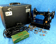 Singer Cat 3-120 Portable Sewing Machine Case And Accessories Please Read