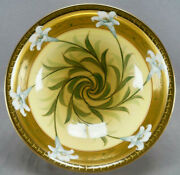 Pickard Hand Painted Otto Schoner Art Nouveau Easter Lily Pattern Footed Bowl