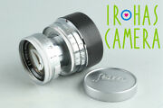 Leica Leitz Summicron 50mm F/2 Lens For L39 + Leica M Mount Adapter 36878t