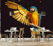 3d Yellow Parrot Zhu037 Animal Wallpaper Wall Mural Removable Self-adhesive Zoe