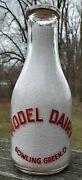 Model Dairy Bowling Green Oh Ohio 1 Qt One Quart Milk Bottle Only One On Ebay