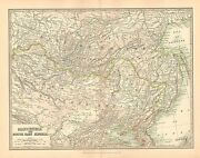 1911 Large Victorian Map Manchuria And East Siberia Mongolia Chinese Empire