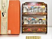 Cotter And Company Mid Century Mod Hippie Spice Rack Jars Rare New 2.4