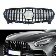 For Mercedes Benz R190 C190 Amg Gt S 2dr Front Grille Grill 2015-2016 Blk 1pc