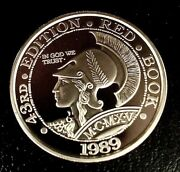 1989 43rd Edition Red Book Whitman Coin Products Racine, Wi .999 1oz Silver