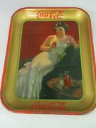 Authentic Coke Coca Cola 1936 Advertising Serving Tin Tray Near Mint A-835