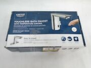 New Grohe 36466000 Touchless Starlight Chrome Bathroom Sink Faucet W Temp Contro