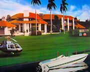 Ferrari Mansion Helicopter Cigar Boatandmdashart Deco Famous Places Limited Edition