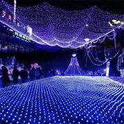 Christmas Led String Fairy Curtain Lights Net Mesh Party Garden Home Decorating