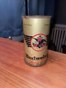 Rare Condition 1930s Budweiser Beer Flat Top Can 1936 Eagle