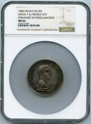 Mexico Ferdinand Vii Medal Of / Proclamation /1808 Mexico City Ngc Ms 62