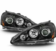 For 2005-2006 Acura Rsx Black Led Dual Projector Headlights Lamps Replacement
