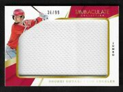 Shohei Ohtani ⭐ 2018 Immaculate Rookie Jumbo Game Used Material Relic Patch /99