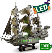 Cubicfun 3d Puzzles For Adults Halloween Decorations Green Led Flying Dutchman P