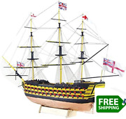 Hms Victory 3d Wooden Puzzle Diy Ship Craft Laser-cut Model Kits To Build For Ad