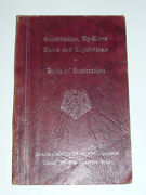 Eastern Star Of North Carolina Book Of Instruction, By-laws, Rules And Regs