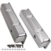 Pair For Ford Fe Bbf 413 Engines Aluminum Cover Valve Rocker Cover Silver Color