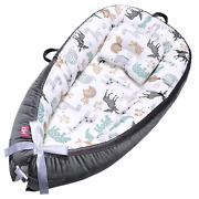 Eih Baby Lounger Baby Nest Portable Baby Bassinet Ultra Soft Breathable Newborn