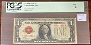 1928 One Dollar Bill Red Seal 1 United States Note Pcgs Fine 12 35209