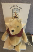 Steiff Winnie The Pooh Ean 651489 10 Mohair Pooh With Red Jacket And Orig Box