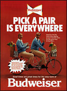 1978 Ed Mcmahon Budweiser Beer 2-seater Bicycle Vintage Photo Print Ad Ads70