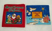 Completed Follow The Star Christmas Story Book And Christmas Songbook Fabric Panel