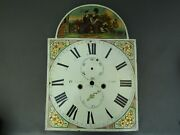 Antique Painted Longcase Grandfather Clock Dial Face H Ayre