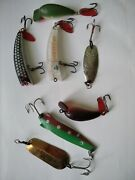 Vintage Ussr 7 Lures Spinning Stainless Steel Fishing