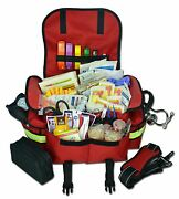 Trauma Bag First Aid Kit Responder Complete Stocked Emt Ems Paramedic Full - Red