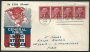Usa 1954 2c Coil Stamp General Issue First Day Cover