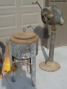 Blacksmith Tools Champion Blower On Stand And Johnson Co Forge And Crucible Furnace