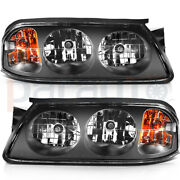 For 2000-2005 Chevy Impala Headlights Assembly Pair Replacement Headlamp Set