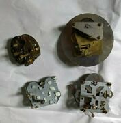 Clock Parts Antique Vntg Brass Movements Springs Backs Chime Rods See All Pics