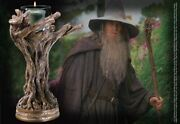Lord Of The Rings Gandalf Staff Candle Holder Authentic Lotr Collectible Decor