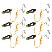 6x Outrigger Power Grip Snap Weight Release Clip W/ Leader For Sea Fishing
