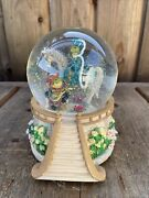 """San Francisco Music Box Co. Water Globe """"a Time For Us"""" Frog Romeo Juliette"""