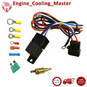 Electric 30 Amp 12v Relay With Wiring+temperature Control Suit Relay Fans Kit
